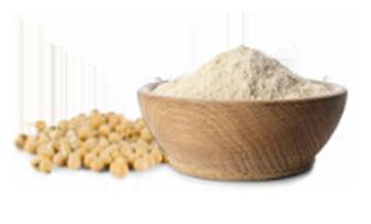La farine de soja sans gluten