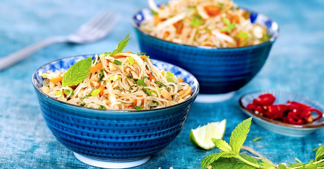 Salade de vermicelles à l'asiatique