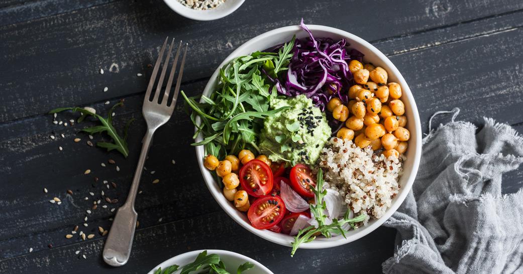 Buddha bowl sans gluten et vegan