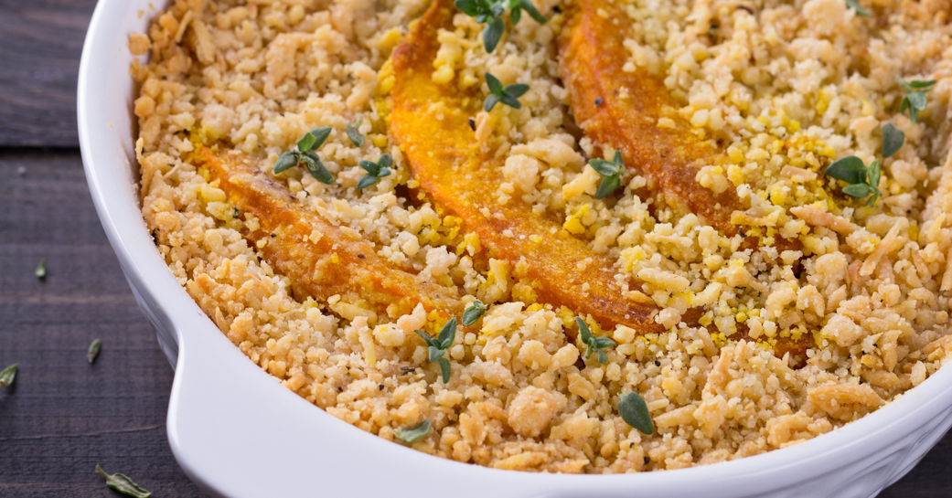 Crumble de potimarron au quinoa sans gluten