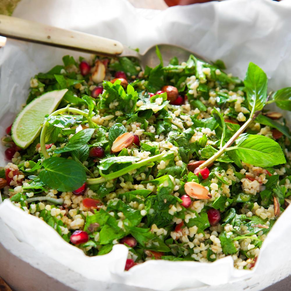 Salade d'été à la grenade sans gluten