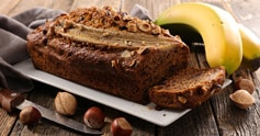 Banana bread aux noix sans gluten