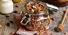 Granola aux fruits secs sans gluten