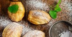 Madeleines sans gluten à la farine de souchet